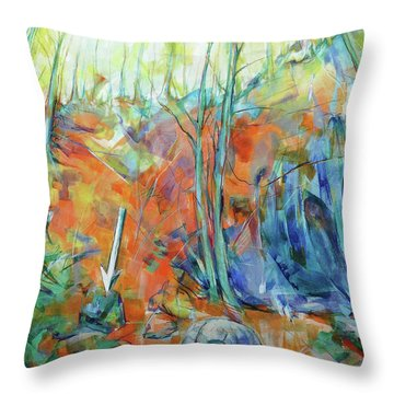 Pfeil - Arrow Throw Pillow by Koro Arandia
