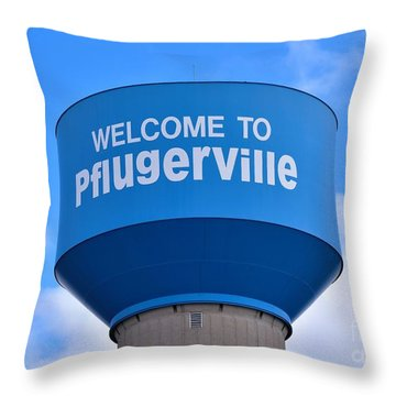 Pflugerville Texas - Water Tower Throw Pillow