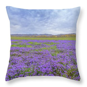 Throw Pillow featuring the photograph Phacelia Field by Marc Crumpler