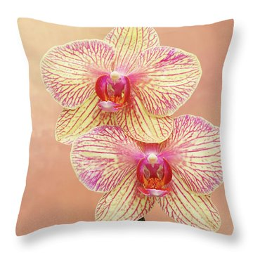 Phalaenopsis Moth Orchids #2 V2 Throw Pillow