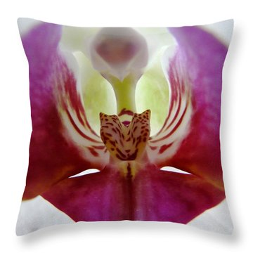 Phalaenopsis Orchid Detail Throw Pillow