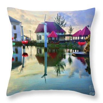Phan Thiet Coast I Throw Pillow