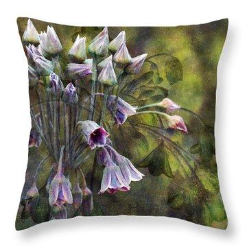 Phantom Bells Throw Pillow by Venetta Archer