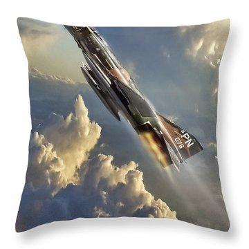 Phantom Cloud Break Throw Pillow by Peter Chilelli