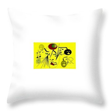 Phantom Of A Seeker Throw Pillow
