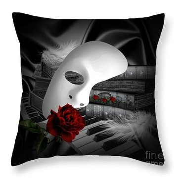 Phantom Of The Opera Throw Pillow