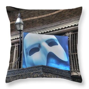 Phantom Of The Opera - Broadway Throw Pillow by Timothy Lowry