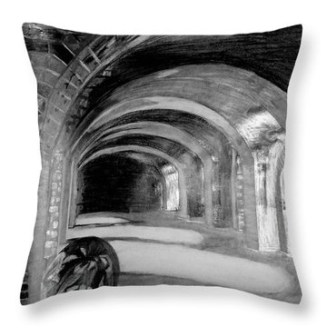 Phantom Scream Throw Pillow