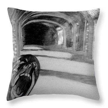 Phantom Scream Throw Pillow