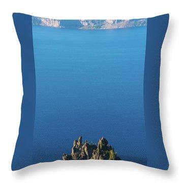 Phantom Ship Island Crater Lake National Park Oregon 2 Throw Pillow
