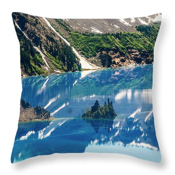 Phantom Ship Island Throw Pillow