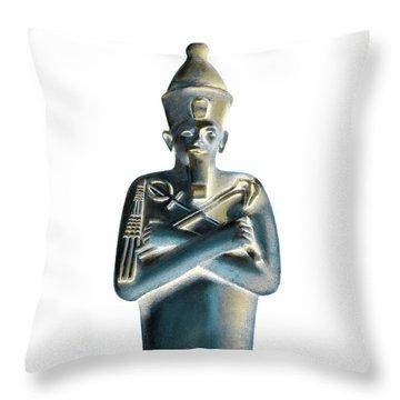 Throw Pillow featuring the digital art Pharaoh by Elizabeth Lock