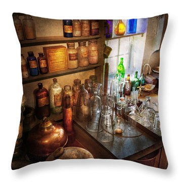 Pharmacist - A Little Bit Of Witch Craft Throw Pillow by Mike Savad