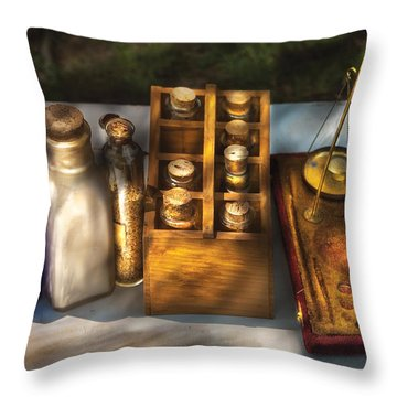Pharmacist - Field Medicine Throw Pillow by Mike Savad