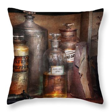 Pharmacy - That's The Spirit Throw Pillow by Mike Savad