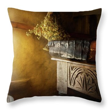 Throw Pillow featuring the photograph Pharmacy - The Apothecarian by Mike Savad