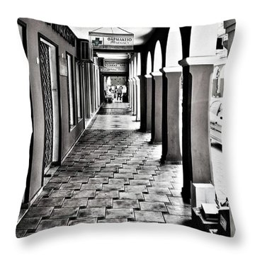 Pharmacy, Zante Town. #zakynthos #zante Throw Pillow
