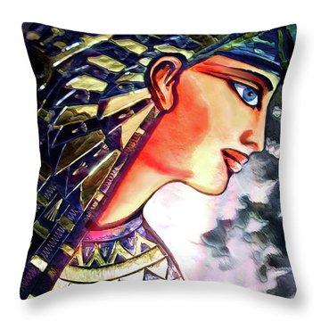 Throw Pillow featuring the digital art Pharoah Of Egypt by Pennie  McCracken