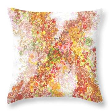 Phase Transition Throw Pillow by Regina Valluzzi