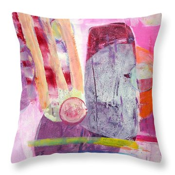 Throw Pillow featuring the painting Phases by Mary Schiros