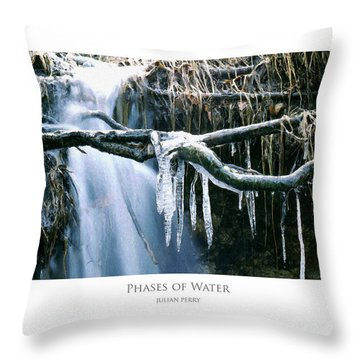 Throw Pillow featuring the digital art Phases Of Water by Julian Perry