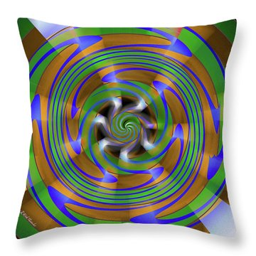Phasing Throw Pillow