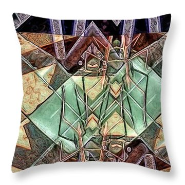 Throw Pillow featuring the digital art Phasmids by Ron Bissett