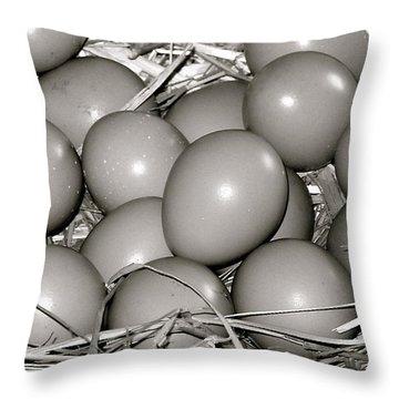 Pheasant Eggs Throw Pillow by Karon Melillo DeVega