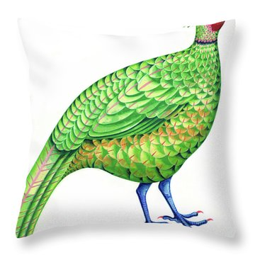 Pheasant Throw Pillow by Jane Tattersfield
