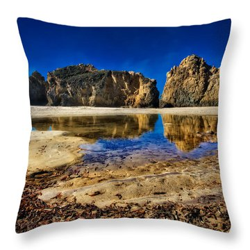 Throw Pillow featuring the photograph Pheiffer Beach #15 - Big Sur, Ca by Jennifer Rondinelli Reilly - Fine Art Photography