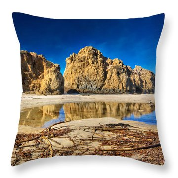 Throw Pillow featuring the photograph Pheiffer Beach - Keyhole Rock #16 - Big Sur, Ca by Jennifer Rondinelli Reilly - Fine Art Photography