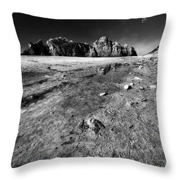 Throw Pillow featuring the photograph Pheiffer Beach -keyhole Rock #17 Big Sur, Ca by Jennifer Rondinelli Reilly - Fine Art Photography