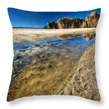 Throw Pillow featuring the photograph Pheiffer Beach- Keyhole Rock #19 - Big Sur, Ca by Jennifer Rondinelli Reilly - Fine Art Photography