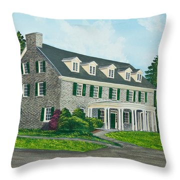 Phi Gamma Delta Throw Pillow by Charlotte Blanchard