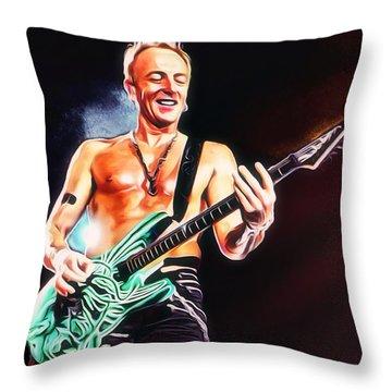 Phil Collen Portrait Throw Pillow