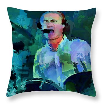 Phil Collins Drums Throw Pillow