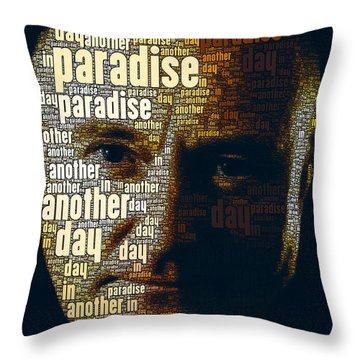 Phil Collins Word Portrait  Throw Pillow