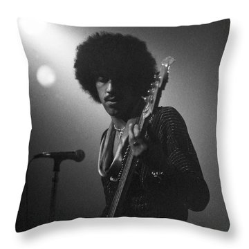 Phil Lynott Throw Pillow by Sue Arber