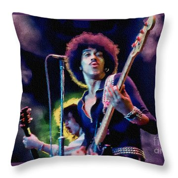 Phil Lynott - Thin Lizzy Throw Pillow