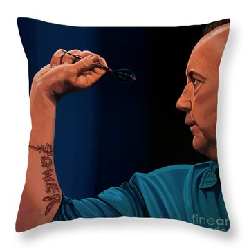Phil Taylor The Power Throw Pillow