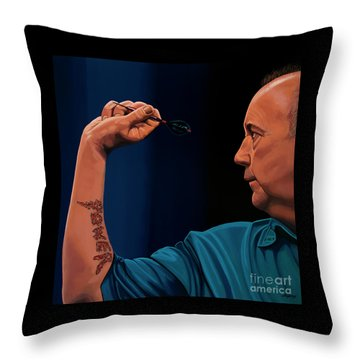 Phil Taylor The Power Throw Pillow by Paul Meijering