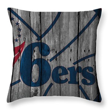 Philadelphia 76ers Wood Fence Throw Pillow