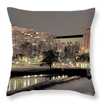 Philadelphia Art Museum In Pastel Throw Pillow
