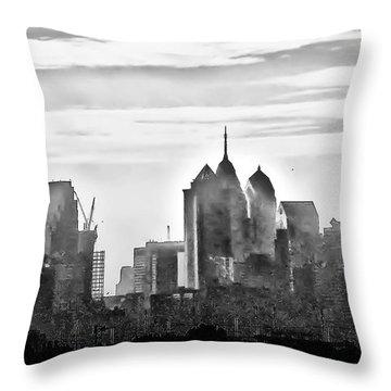 Philadelphia Throw Pillow by Bill Cannon