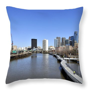 Philadelphia Boardwalk Throw Pillow