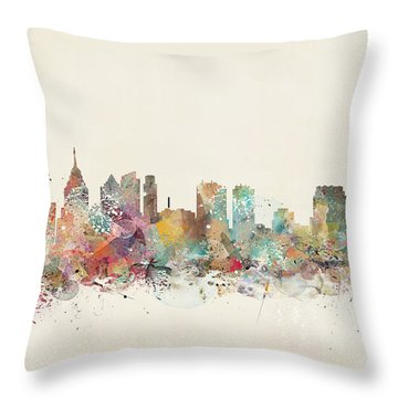 Philadelphia City  Throw Pillow