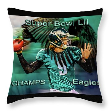 Philadelphia Eagles - Super Bowl Champs Throw Pillow
