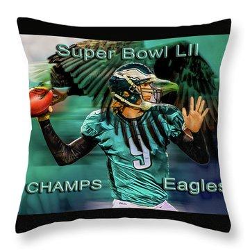Philadelphia Eagles - Super Bowl Champs Throw Pillow