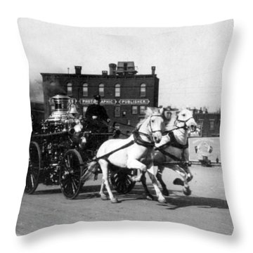 Philadelphia Fire Department Engine - C 1905 Throw Pillow