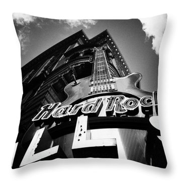 Philadelphia Hard Rock Cafe  Throw Pillow by Bill Cannon
